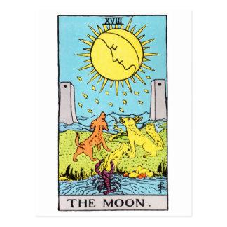 tarot-moon postcard