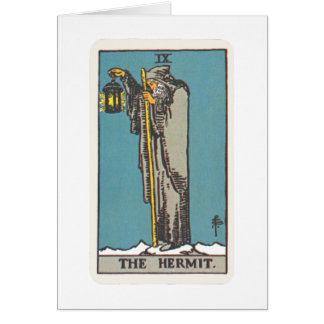 Tarot of the Eremit The Hermit Greeting Card