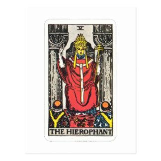 Tarot of the Hierophant The Hierophant Postcard