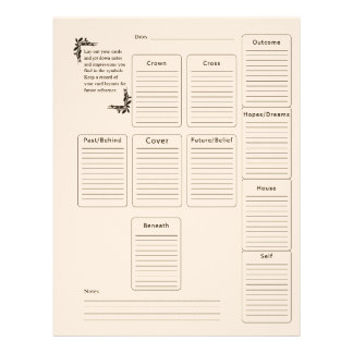 Tarot Page Customized Letterhead