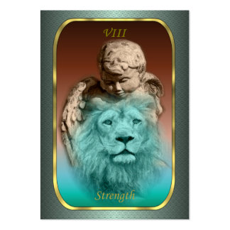 Tarot Profile Cards - Strength Business Card Template