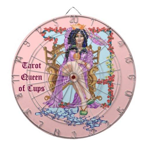 Tarot Queen of Cups Dartboard With Darts