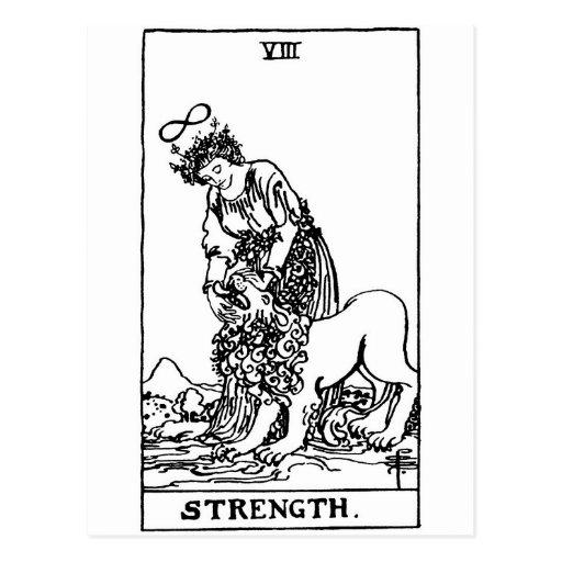 tarot 'strength' postcard