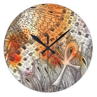 Tarot Symbol Ankh Large Clock