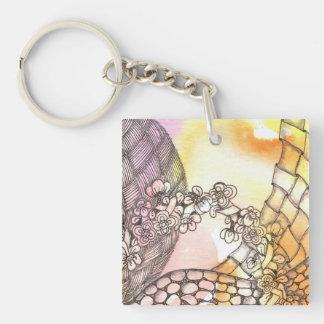Tarot Symbol Arch Key Chain