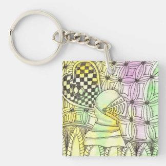 Tarot Symbol Armor Key Chains