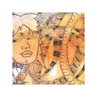Tarot Symbol Blindfold Canvas Print