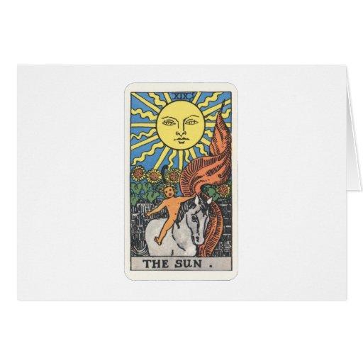 Tarot the sun The Sun Greeting Card