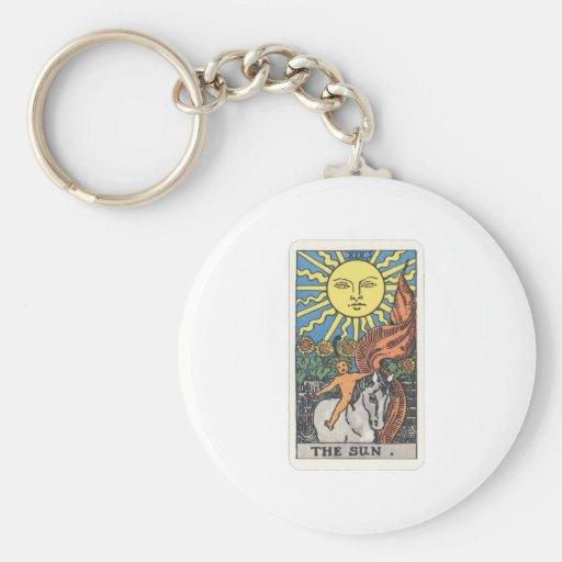 Tarot the sun The Sun Keychain