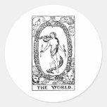 Tarot 'The worl'd Classic Round Sticker