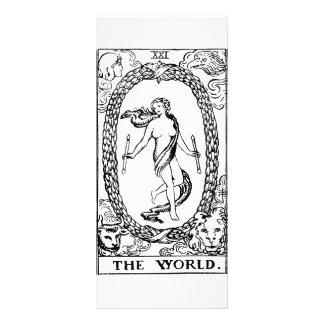 Tarot 'The worl'd Rack Card