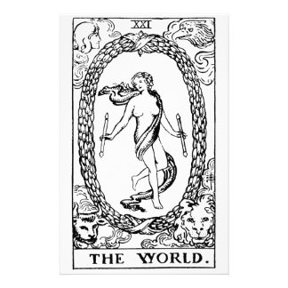 Tarot 'The worl'd Stationery