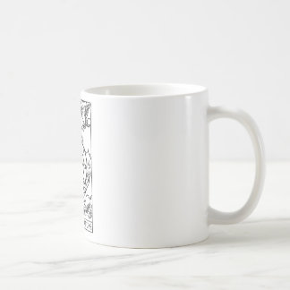 tarot 'wheel of fortune' classic white coffee mug