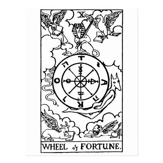 tarot 'wheel of fortune' postcard