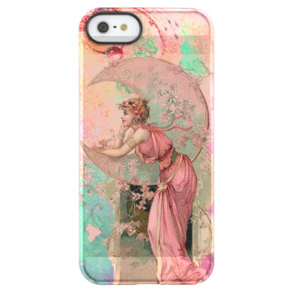 TAROTS /LADY OF THE MOON WITH FLOWERS, PINK FLORAL PERMAFROST® iPhone SE/5/5s CASE