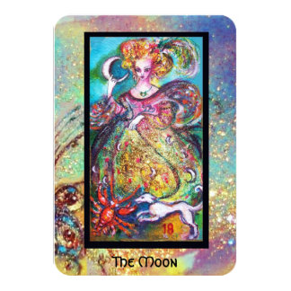TAROTS OF THE LOST SHADOWS / THE MOON 3.5X5 PAPER INVITATION CARD