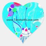 TarotwithLove.com Heart Stickers