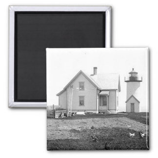 Tarpaulin Cove Lighthouse 2 Inch Square Magnet