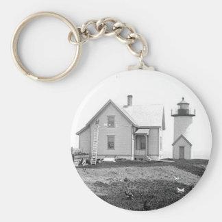 Tarpaulin Cove Lighthouse Basic Round Button Keychain