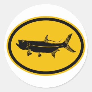 Tarpon Fish Classic Round Sticker