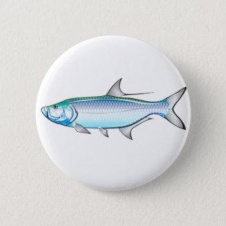 Tarpon Ocean Gamefish illustration vector Button