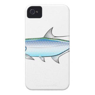 Tarpon Ocean Gamefish illustration vector iPhone 4 Case-Mate Case