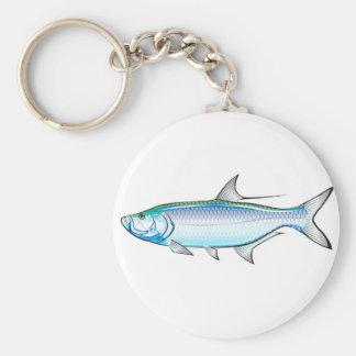 Tarpon Ocean Gamefish illustration vector Keychain