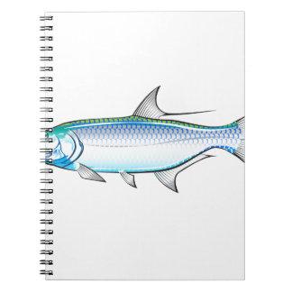 Tarpon Ocean Gamefish illustration vector Notebook