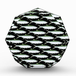 Tarpon pattern on black acrylic award