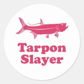 Tarpon Slayer Classic Round Sticker