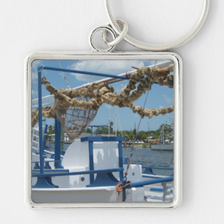Tarpon Springs Sponge Boat Ornament Keychain