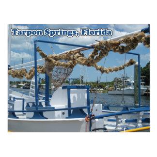 Tarpon Springs Sponge Boat Postcard