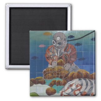 Tarpon Springs Sponge Diver Mural Magnet