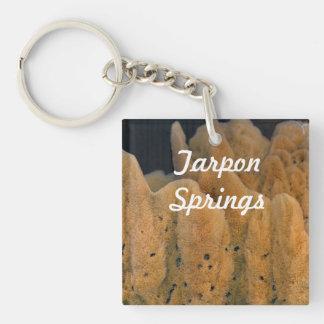 Tarpon Springs Sponge Square Acrylic Key Chains