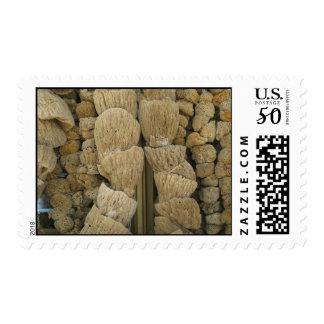 Tarpon Springs Sponges (2) Postage Stamps