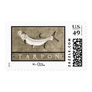 Tarpon Vintage Black & White Postage Stamps