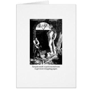 Tarquin y papel de embalaje tarjeta de felicitación