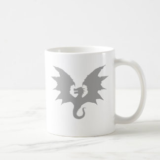 Tarragon Silhouette Solid Grey Coffee Mug