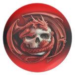 tarragon skull dinner plate