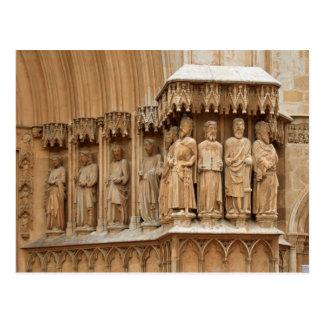 Tarragona Cathedral sculptures Postcard