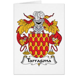 Tarragona Family Crest Card