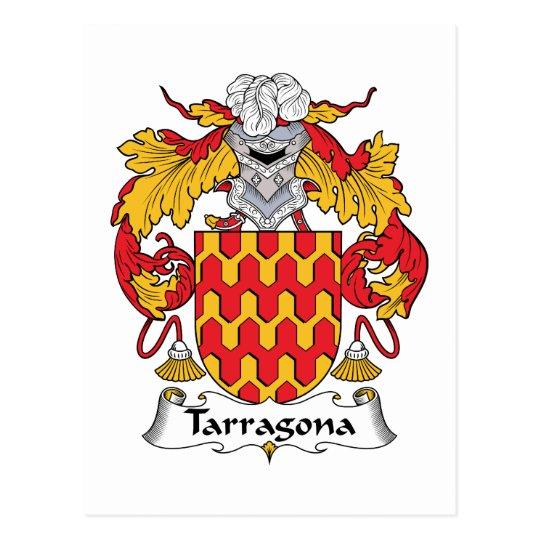 Tarragona Family Crest Postcard