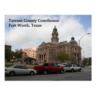 Tarrant County Courthouse Day Postcard