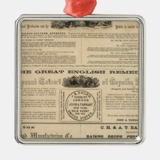 Tarrant's Preparations Metal Ornament