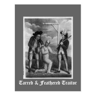 Tarred & Feathered Traitor Postcard