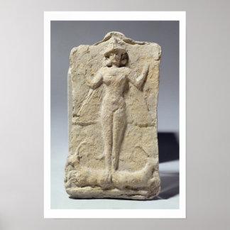 Tarro adornado con el cerco simbólico de los adorn póster