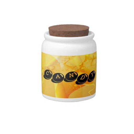 Tarro amarillo suave del caramelo jarra para caramelo