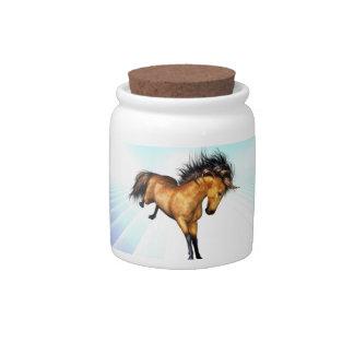 Tarro Bucking del caramelo del unicornio Jarra Para Caramelo
