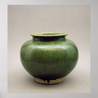 Tarro chino, mercancías de Yueh, seis dinastías Póster