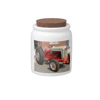Tarro clásico del caramelo del tractor de Ford Plato Para Caramelo